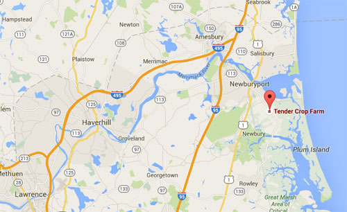 Get an interactive map for Tendercrop at Newbury, MA