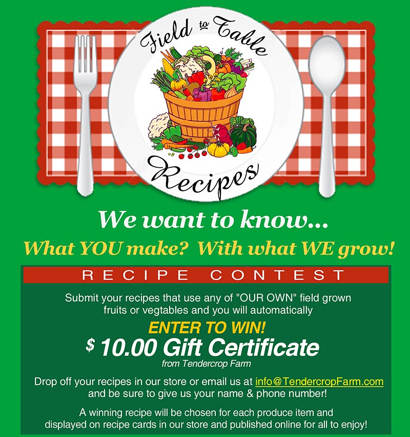 Field to Table Recipe Contest